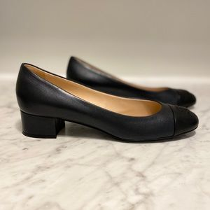***SOLD*** New Chanel Leather CC pumps